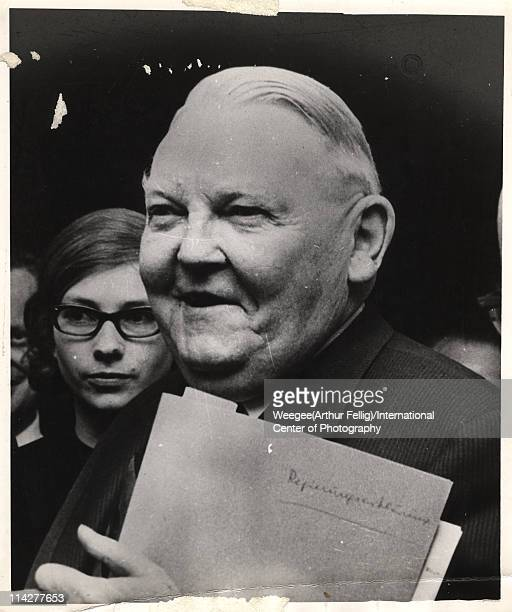 Portrait of Chancellor of Germany Ludwig Erhard mid to late twentieth century Photo by Weegee /International Center of Photography/Getty Images