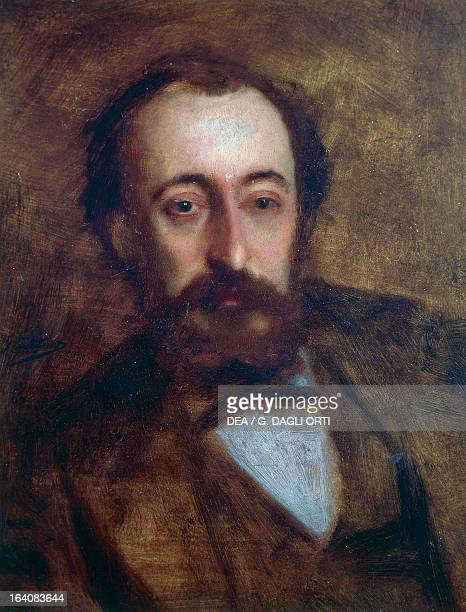 Portrait of Charles Camille SaintSaens French composer pianist and organist Painting by Gustave Jacquet 1870 Dieppe ChâteauMusée De Dieppe