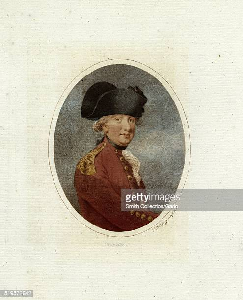 A portrait of Charles Cornwallis a leading British general during the American Revolutionary War his surrender to combined American and French forces...
