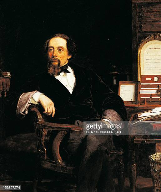 Portrait of Charles Dickens English writer and journalist Oil on canvas by William Powell Frith 98x84 cm London Victoria And Albert Museum