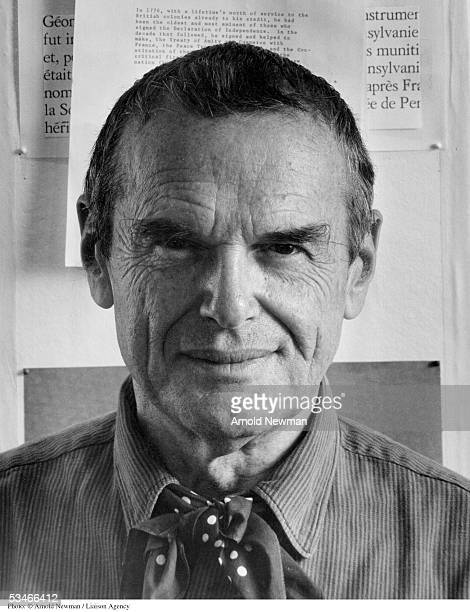 Portrait of Charles Eames American furniture designer November 16 1974 in Venice California