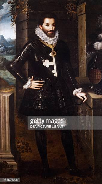 Portrait of Charles Emmanuel I Duke of Savoy known as the Great Duke of Savoy painting by Jan Kraeck 1595 Saluzzo Museo Civico Di Casa Cavassa