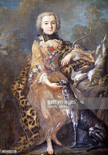 Portrait of Charles Henri d'Estaing as a child French general and admiral Chateau de Ravel Auvergne France Detail