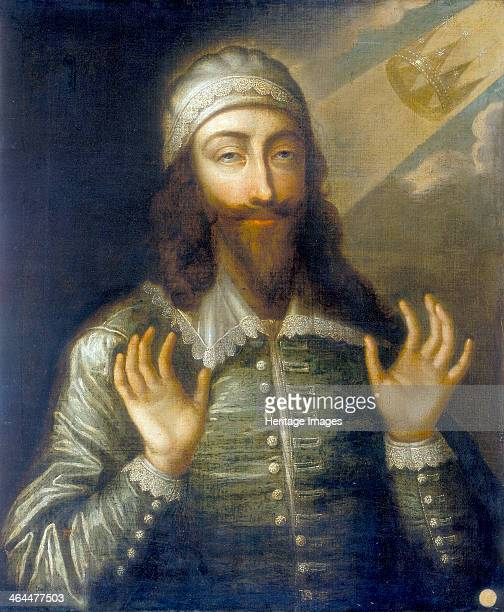 'Portrait of Charles I as a Martyr King', . King Charles I immediately before his execution, shown with uplifted hands. He wears a lace collar in the...