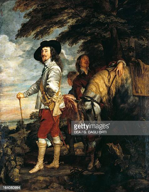 Portrait of Charles I Charles I King of England at the hunt Painting by Anthony van Dyck oil on canvas 266x207 cm Paris Musée Du Louvre
