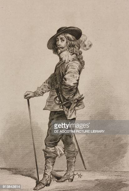 Portrait of Charles I king of England from a painting by Antoon van Dyck England United Kingdom engraving by Lemaitre from Angleterre volume III by...