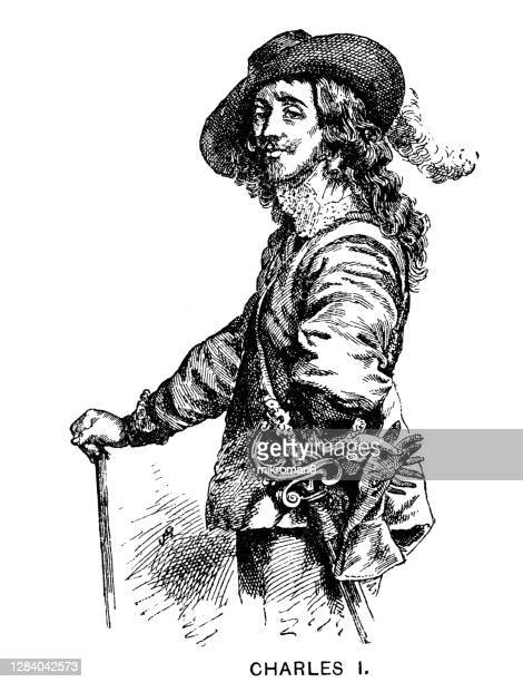 portrait of charles i, king of england, scotland, and ireland - king royal person stock pictures, royalty-free photos & images