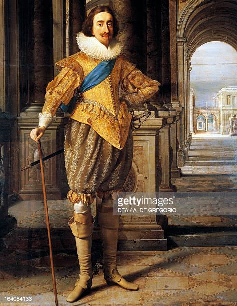 Portrait of Charles I Stuart King of England Scotland Ireland and France Painting by Daniel Mytens I and Heinrich Steenwyck Turin Galleria Sabauda
