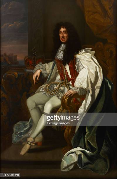 Portrait of Charles II of England in the robes of the Order of the Garter Private Collection
