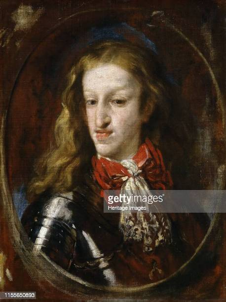Portrait of Charles II of Spain, 1693. Found in the Collection of Museo del Prado, Madrid. Artist Giordano, Luca .