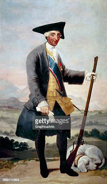 Portrait of Charles III of Spain in hunting costume by Francisco de Goya oil on canvas 1786 88 from Museo del Prado Madrid Spain