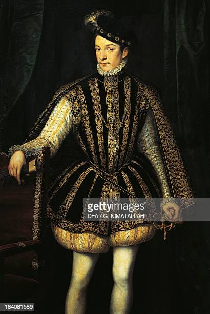 Portrait of Charles IX of Valois born CharlesMaximilien King of France Painting by Francois Clouet Vienna Kunsthistorisches Museum