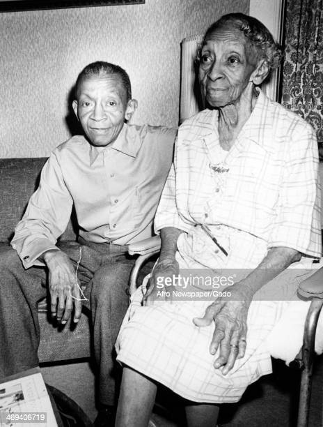 Portrait of Charles Keene and Marie K Stewart, the late grandniece of Mrs Harriet Tubman, June 11, 1976.
