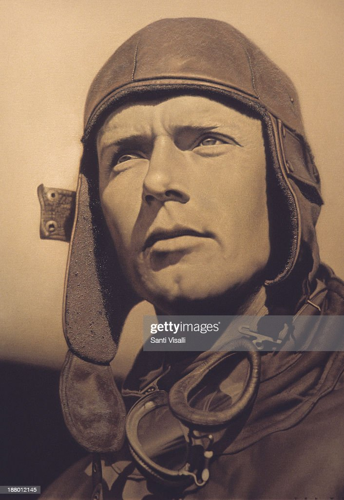 Portrait of Charles Lindberg : Nyhetsfoto