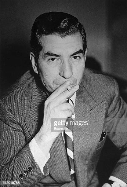 Portrait of Charles Lucky Luciano former vice king of New York Luciano was deported to Italy in 1946