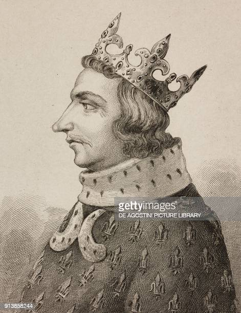 Portrait of Charles V called the Wise King of France engraving by Lemaitre from France deuxieme partie L'Univers pittoresque published by Firmin...