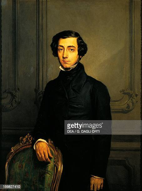 Portrait of CharlesAlexisHenri Clerel de Tocqueville French philosopher and historian painting by Theodore Chasseriau 1850 Versailles Château De...