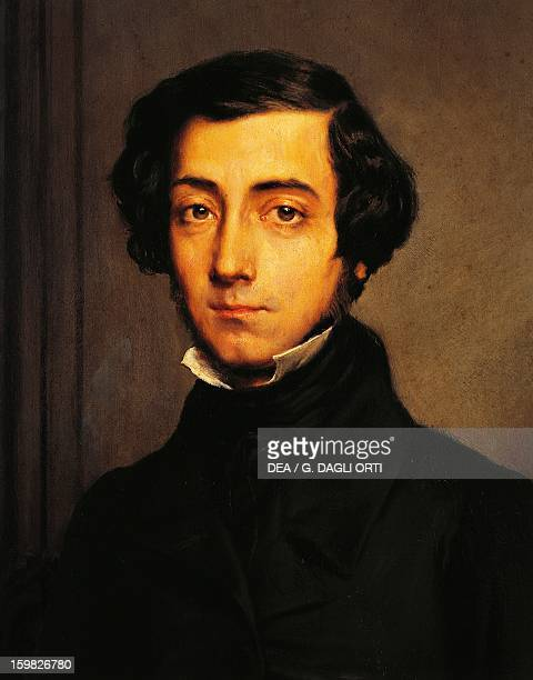 Portrait of CharlesHenriAlexis de Tocqueville Clerel French philosopher and historian Painting by Theodore Chasseriau Versailles Château De Versailles