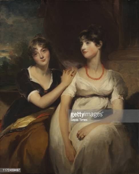 Portrait of Charlotte and Sarah CarteretHardy 1801 Thomas Lawrence Oil on canvas framed 161 x 135 x 11 cm unframed 129 x 103 cm