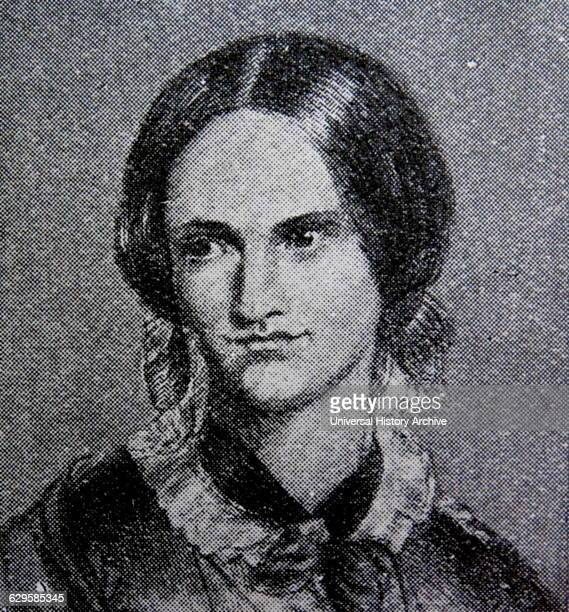 Portrait of Charlotte Bronte English novelist and poet the eldest of the three Bronte sisters Dated 19th Century