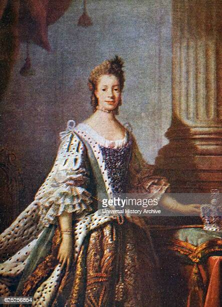 Portrait of Charlotte of MecklenburgStrelitz in State Robes Painted by Allan Ramsay a Scottish portraitpainter Dated 18th Century