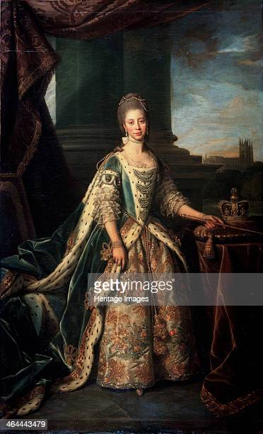 'Portrait of Charlotte of MecklenburgStrelitz Wife of King George III of England' 1773 Charlotte of MecklenburgStrelitz married George III on 8...
