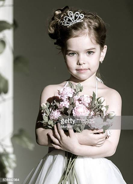 Portrait of Charming Little Princess
