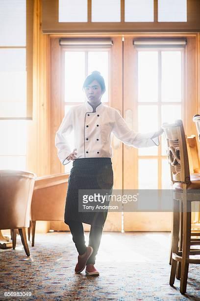 Portrait of chef in restaurant
