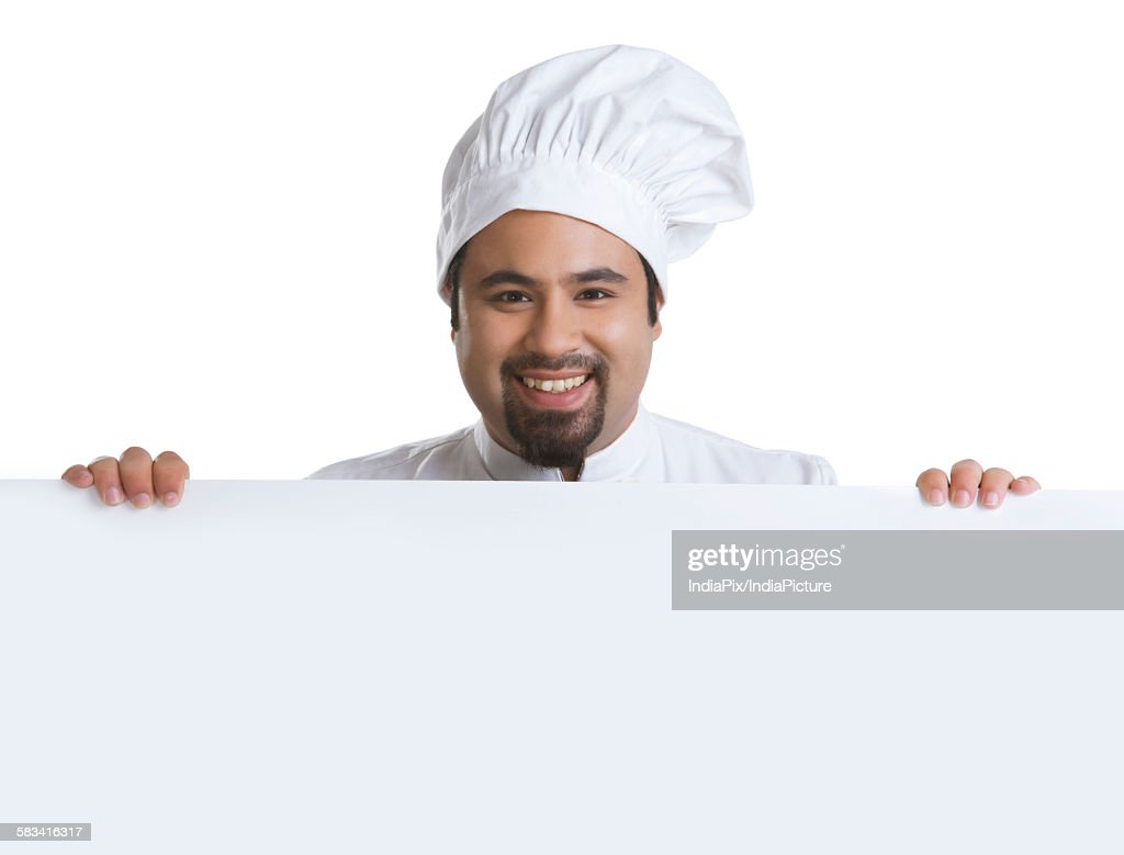 Portrait of chef smiling : Stock Photo