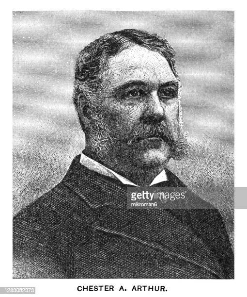 portrait of chester alan arthur, 21st president of the united states - us president stock pictures, royalty-free photos & images