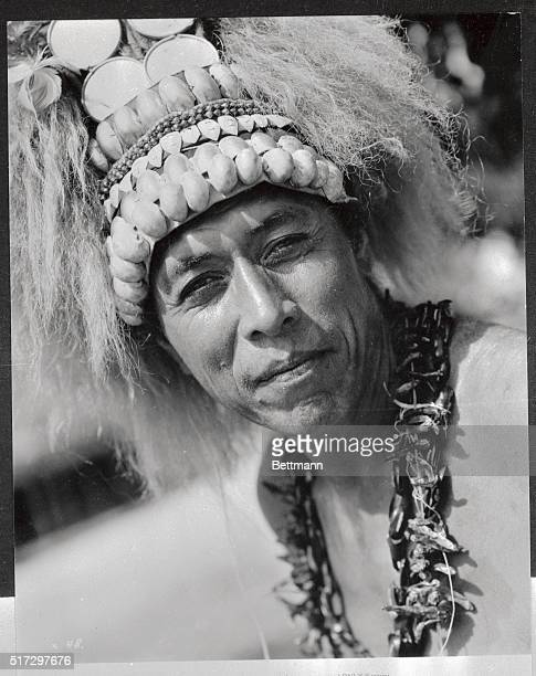 Portrait of Chief Leti of American Samoa who has a part in Samuel Goldwyn's film The Hurricane