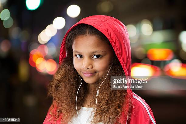 portrait of child in city. - jacket stock pictures, royalty-free photos & images