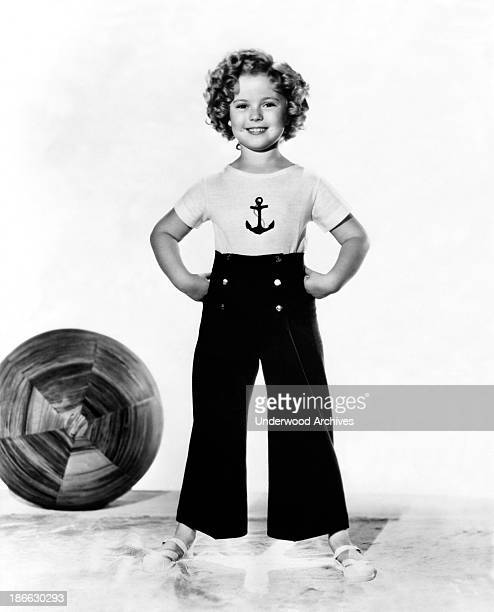 A portrait of child movie star Shirley Temple Hollywood California mid 1930s