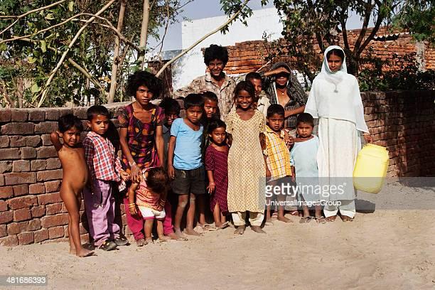 Portrait of children Agra Uttar Pradesh India