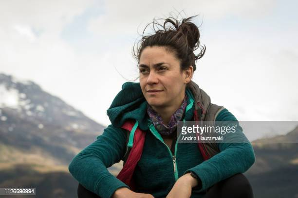 Portrait of Chilean woman in Patagonia