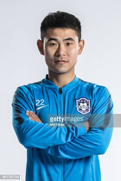**EXCLUSIVE** Portrait of Chinese soccer player Guo Hao of Tianjin TEDA FC for the 2018 Chinese Football Association Super League in Tianjin China 28...
