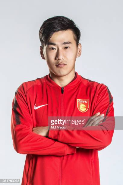 **EXCLUSIVE** Portrait of Chinese soccer player Jin Yangyang of Hebei China Fortune FC for the 2018 Chinese Football Association Super League in...
