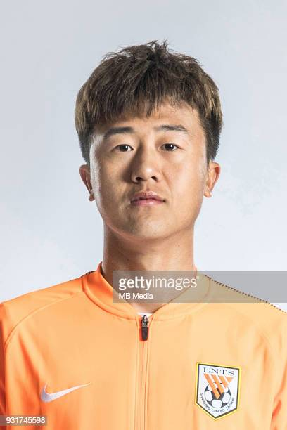 **EXCLUSIVE** Portrait of Chinese soccer player Liu Yang of Shandong Luneng Taishan FC for the 2018 Chinese Football Association Super League in...
