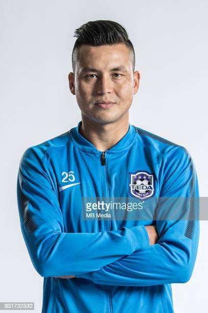 **EXCLUSIVE** Portrait of Chinese soccer player tMirahmetjan Muzepper of Tianjin TEDA FC for the 2018 Chinese Football Association Super League in...