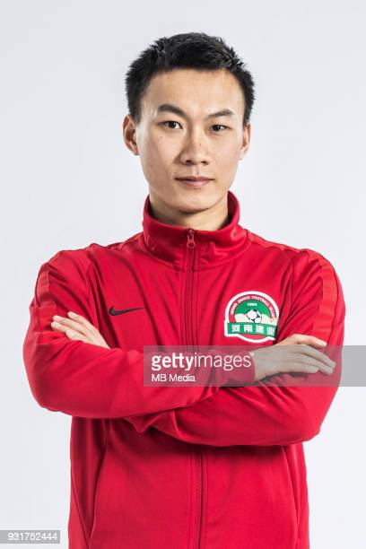 **EXCLUSIVE** Portrait of Chinese soccer player Wang Jiajie of Henan Jianye FC for the 2018 Chinese Football Association Super League in Zhengzhou...