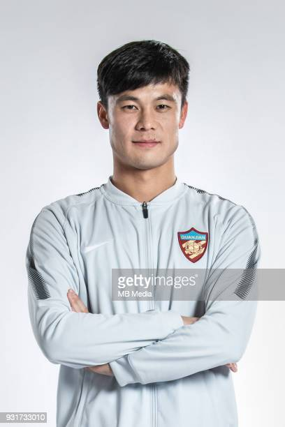 **EXCLUSIVE** Portrait of Chinese soccer player Wang Jie of Tianjin Quanjian FC for the 2018 Chinese Football Association Super League in Yancheng...