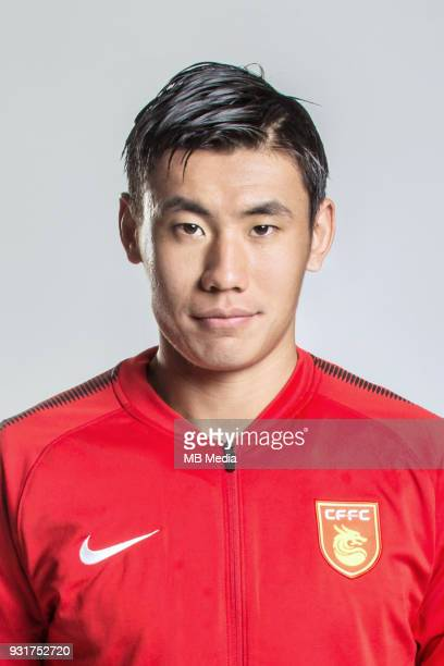 **EXCLUSIVE** Portrait of Chinese soccer player Zhang Chengdong of Hebei China Fortune FC for the 2018 Chinese Football Association Super League in...