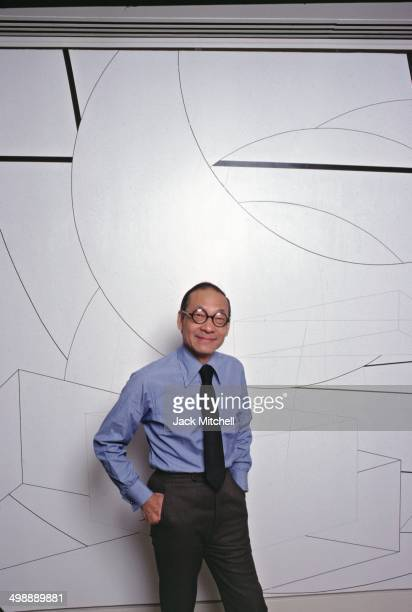 Portrait of ChineseAmerican architect IM Pei in his office 1978