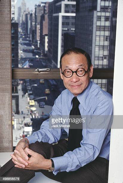 Portrait of ChineseAmerican architect IM Pei in his office New York New York 1978