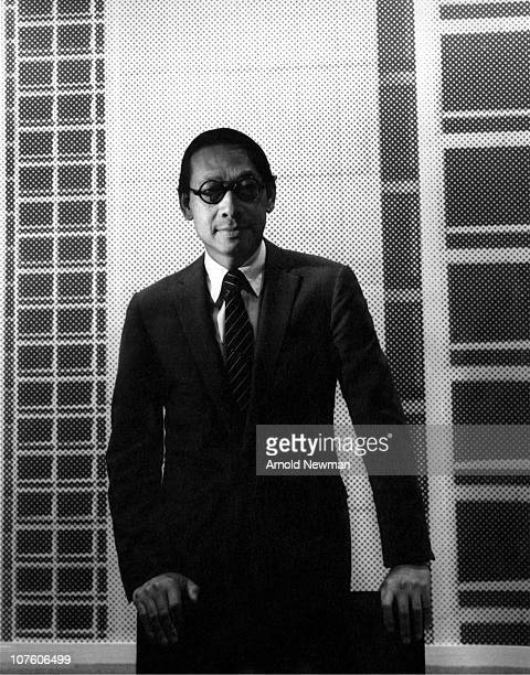 Portrait of Chineseborn American architect IM Pei as he poses behind a chair in his office New York New York September 23 1967