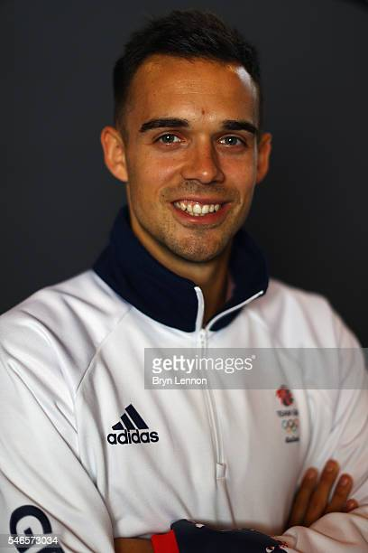 A portrait of Chris Adcock a member of the Great Britain Olympic Badminton team during the Team GB Kitting Out ahead of Rio 2016 Olympic Games on...