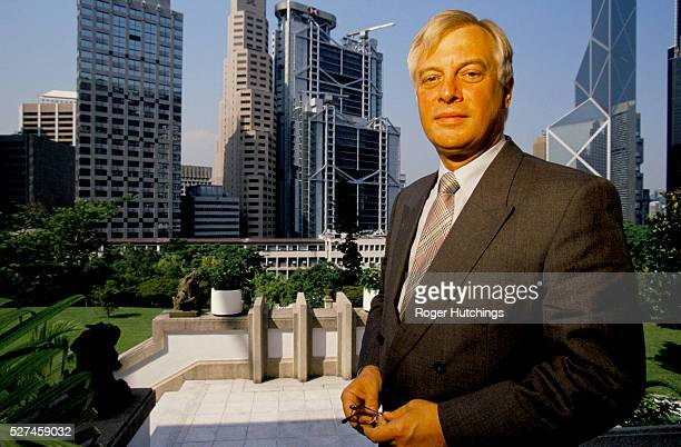 A portrait of Chris Patten shortly after he became the last Governor of the colony before it was handed back to China
