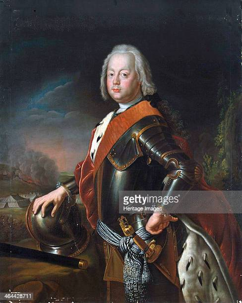 Portrait of Christian August Prince of AnhaltZerbst' 1725 The father of Catherine the Great of Russia Pesne Antoine Found in the collection of the...