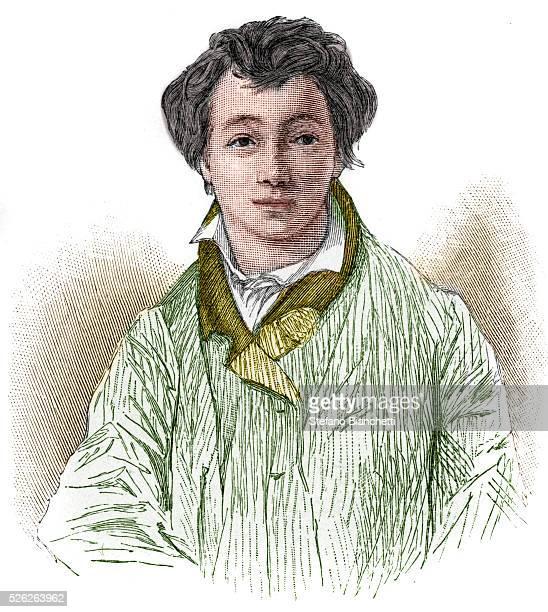 Portrait of Christian Johann Heinrich Heine German poet and journalist Engraving �� Stefano Bianchetti/Corbis