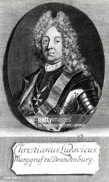 Portrait of Christian Ludwig of BrandenburgSchwedt Margrave and military officer of Brandenburg engraving